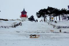 Hiddensee im Winter..Leuchtturm Gellen