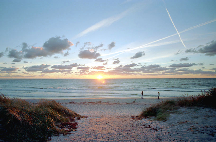 Hiddensee Strand und Sonnenuntergang