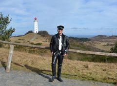 Hiddensee'er am Leuchtturm