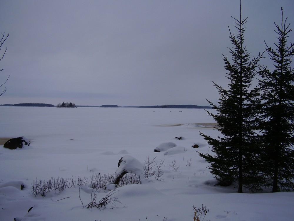 Hielo y nieve en febrero