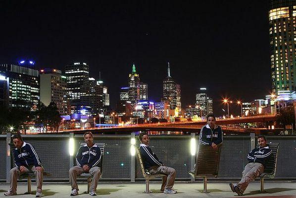 Hier 5 Linge und sie heiße alle Eddie (Melbourne)