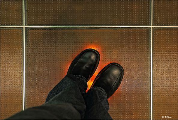 Hier brennen die Socken
