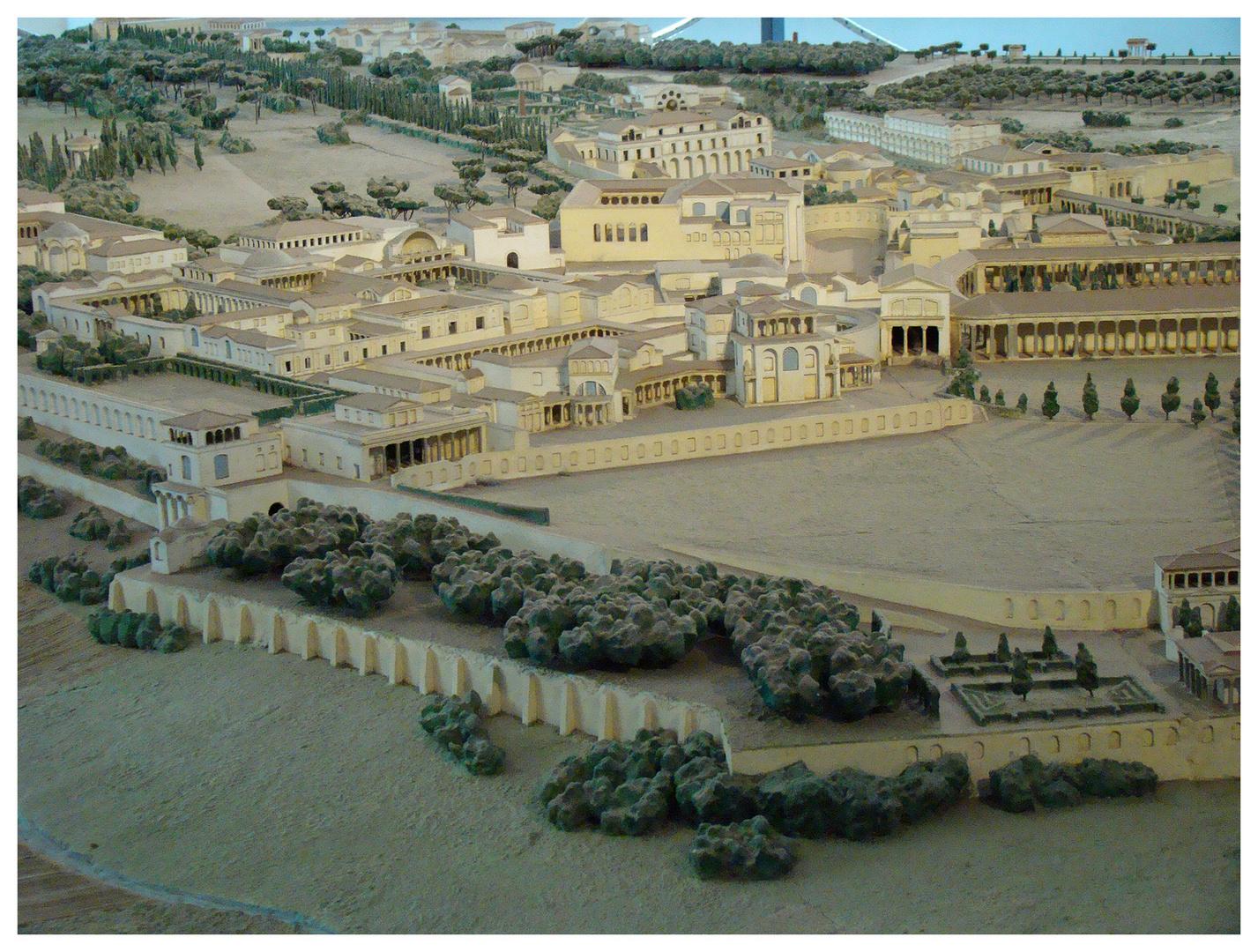 hier das angedeutete model der anlage der vila adriana
