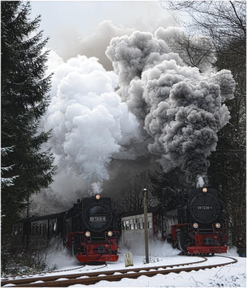 Hier gibt's mächtig Dampf.....