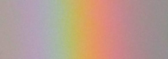 Hier hab ich einfach mal das Spektrum eines Regenbogens herausgeschnitten . . .