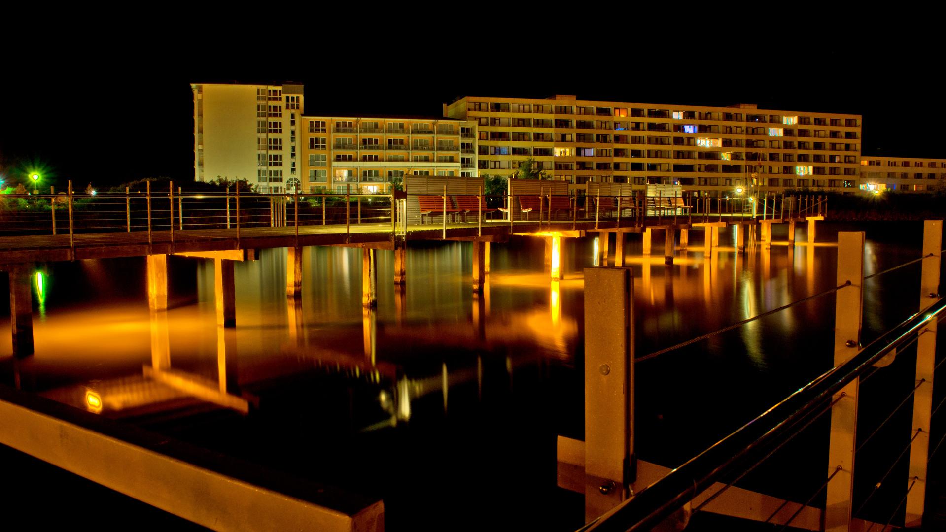 Hier noch Nachteindrücke von Heiligenhafen