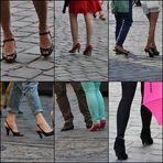 high heels auf unsicherem Pflaster