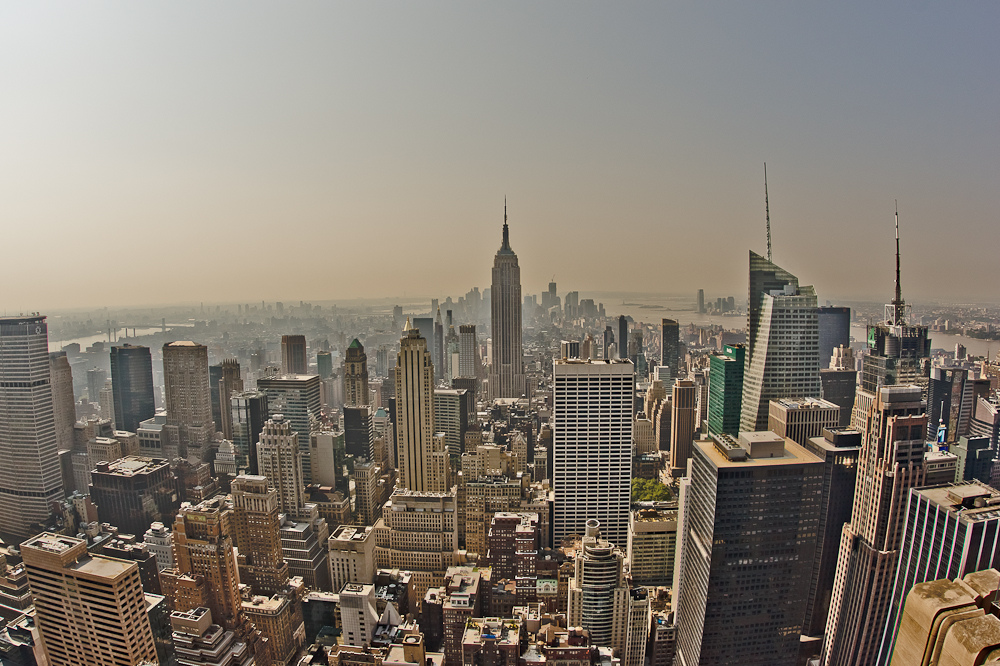- High View from Top of The Rock -
