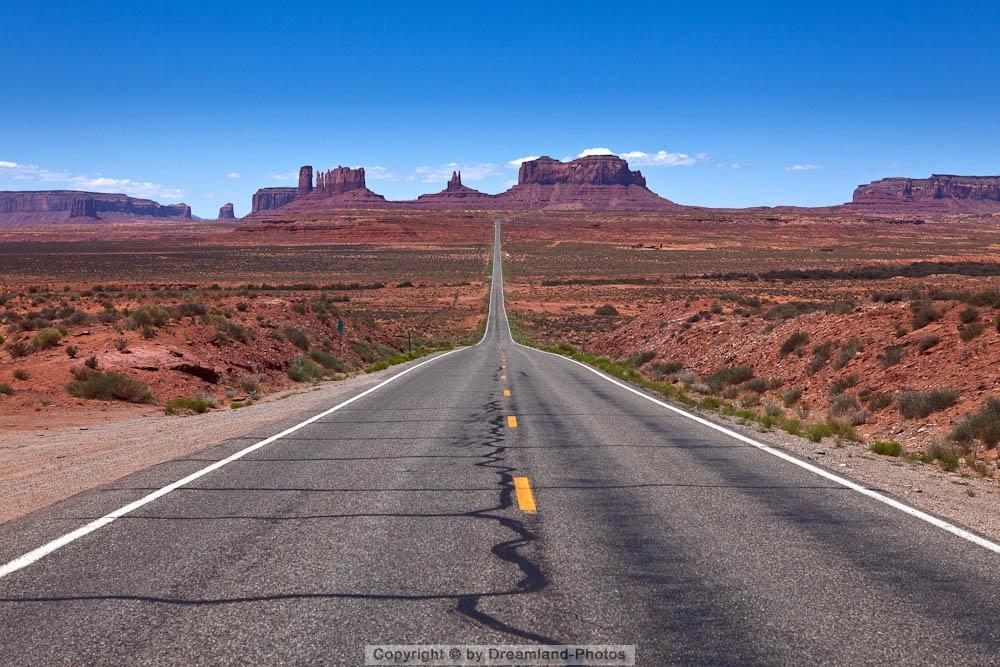 Highway 163 durch das Monument Valley, Utah, USA