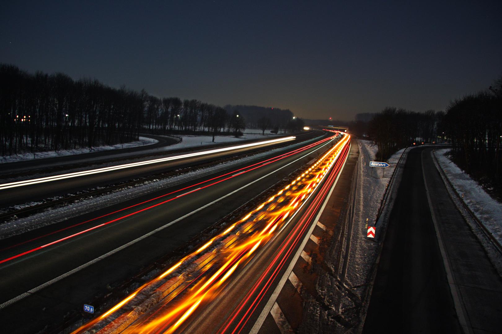 Highway in Duesseldorf.