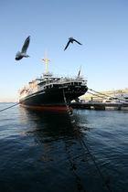 Hikawa Maru im Hafen von Yokohama, Japan