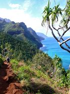 hiking the Kalalau trail on Kauai