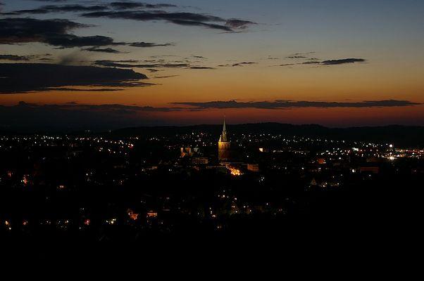 Hildesheim bei Nacht.