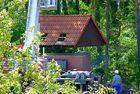 Hilfe für die Freiberger Stadtwerker***Das Dach fliegt ein***
