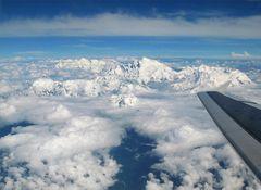 Himalaja im Flug- Everest view