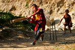 Himalaya Staat Sikkim (Indien) -Volltreffer beim Spiel-
