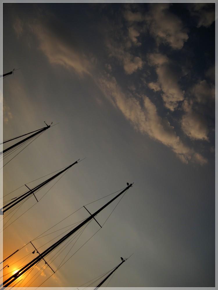 Himmel am Hafen von Marmaris