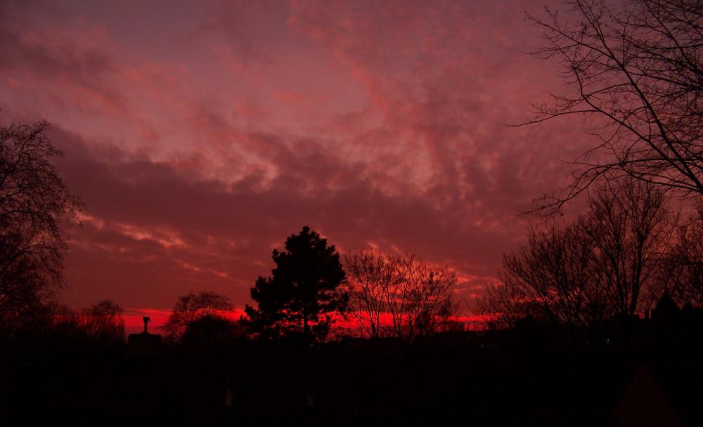 Himmel in Flammen