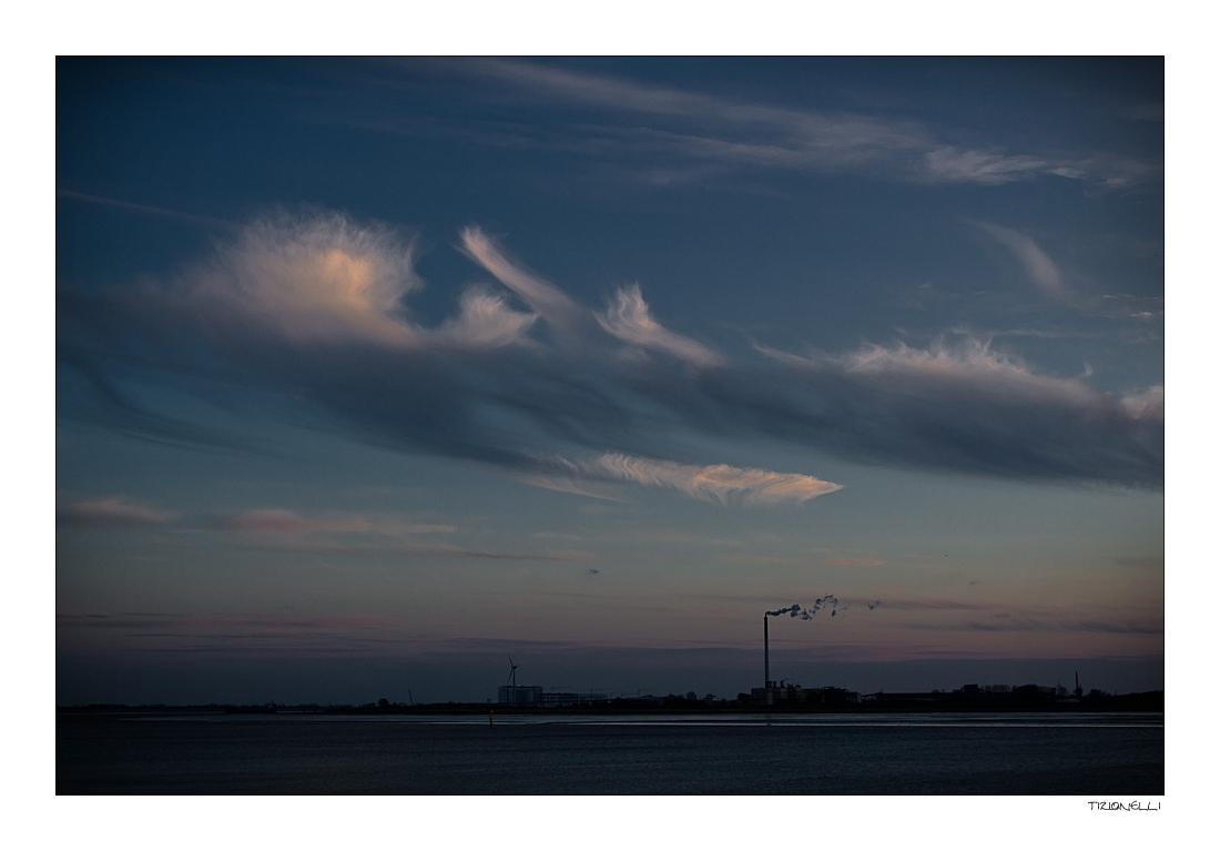 Himmel über Bremerhaven