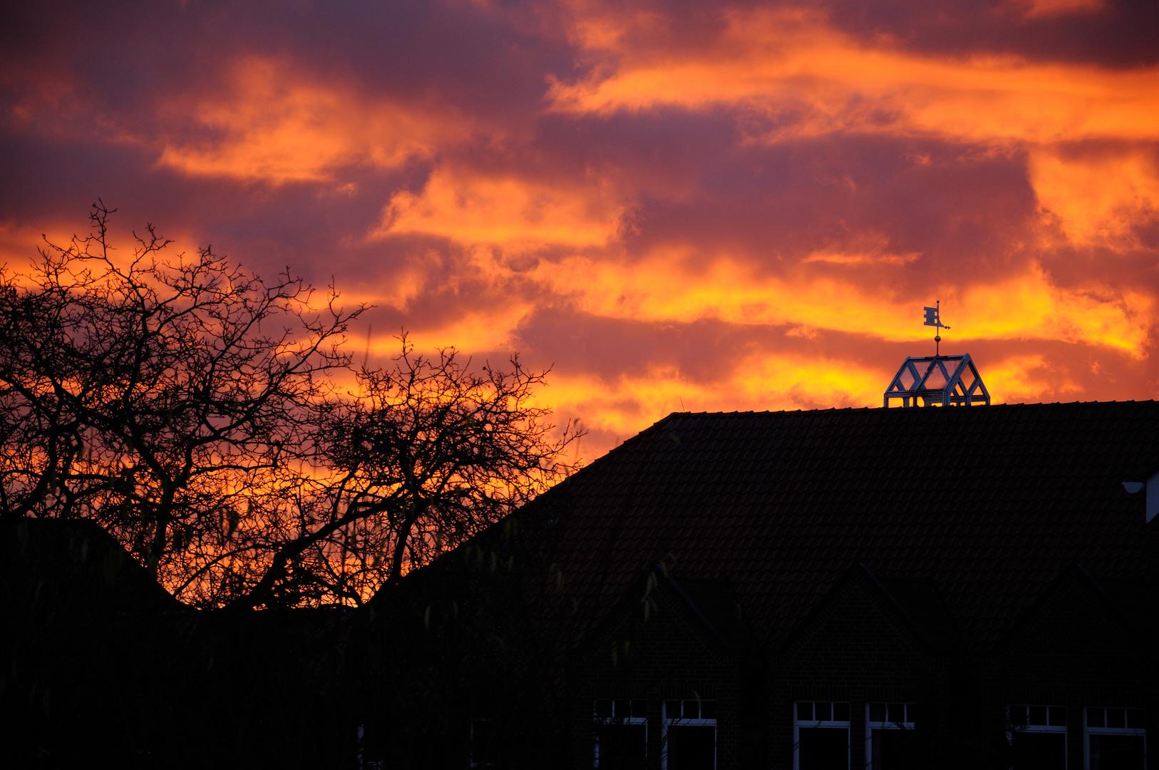 Himmel über dem Rathaus
