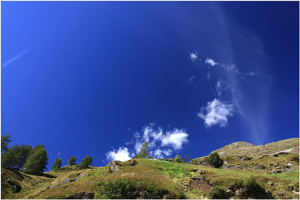Himmel über dem Timmelsjoch