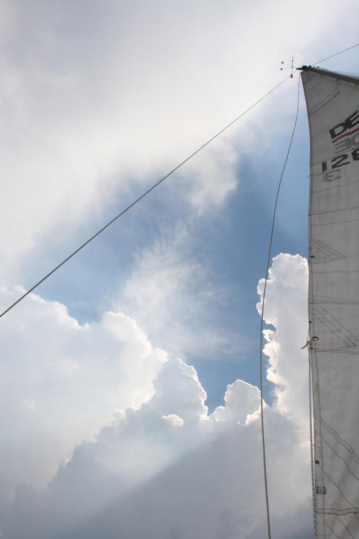 Himmel über dem Wannsee