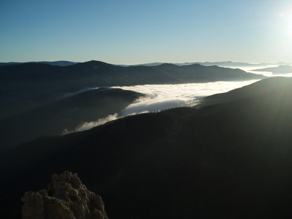 himmel über den bergen