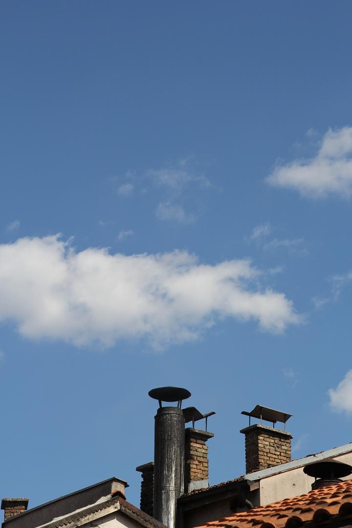 Himmel über den Dächer von Sarajevo