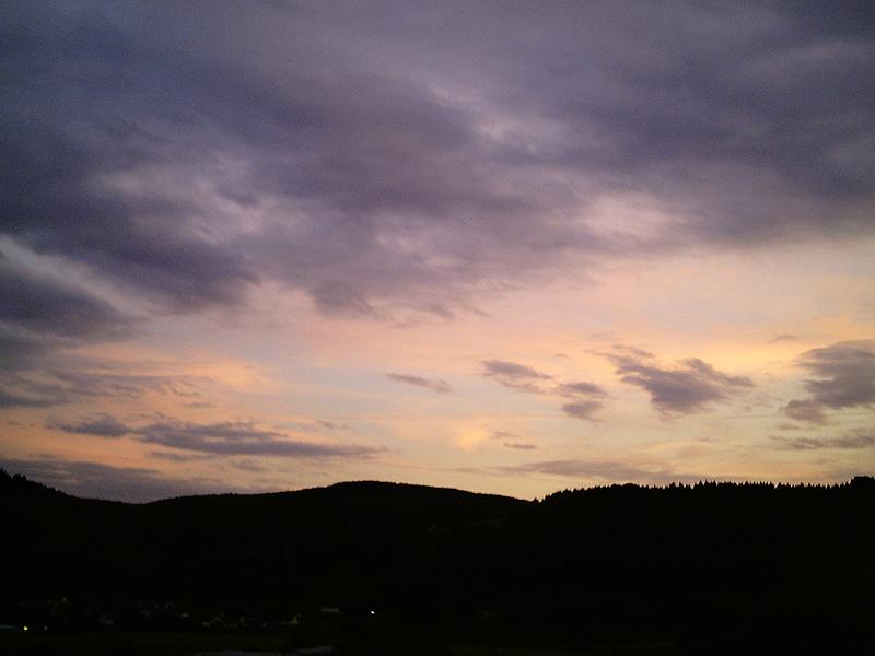 Himmel über Olbernhau - Sommer 2009