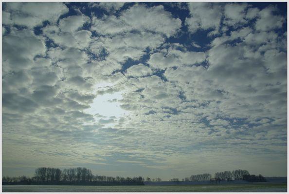 Himmel über Rheinfeld