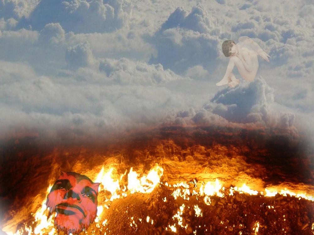 himmel und hölle Foto & Bild  fotomontage, fantasy