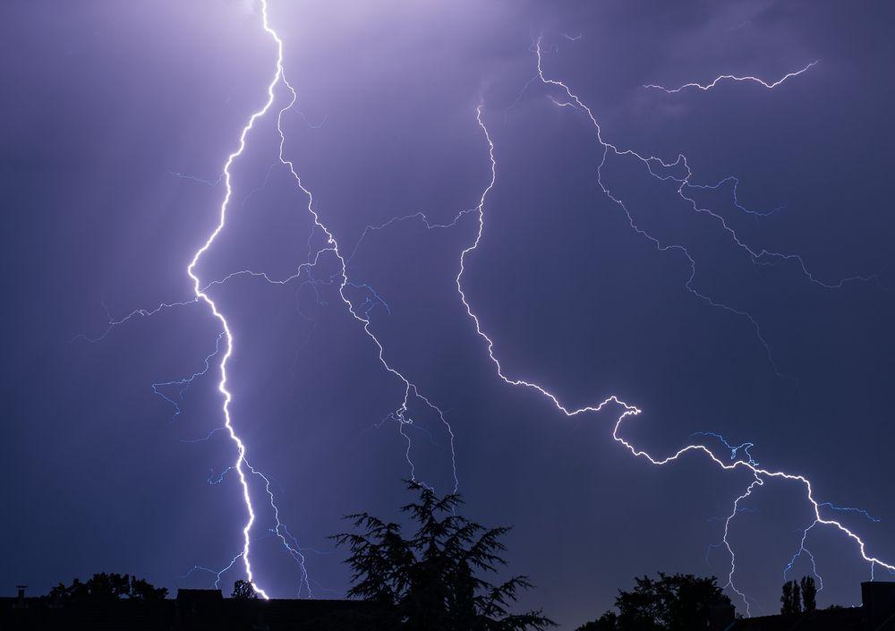 Himmel unter Strom