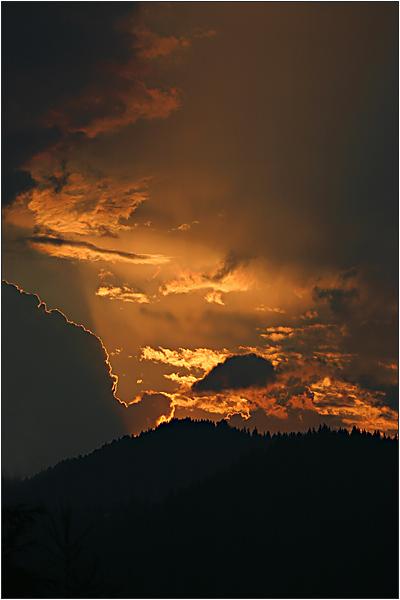 Himmelsfeuerwerk im Ennstal