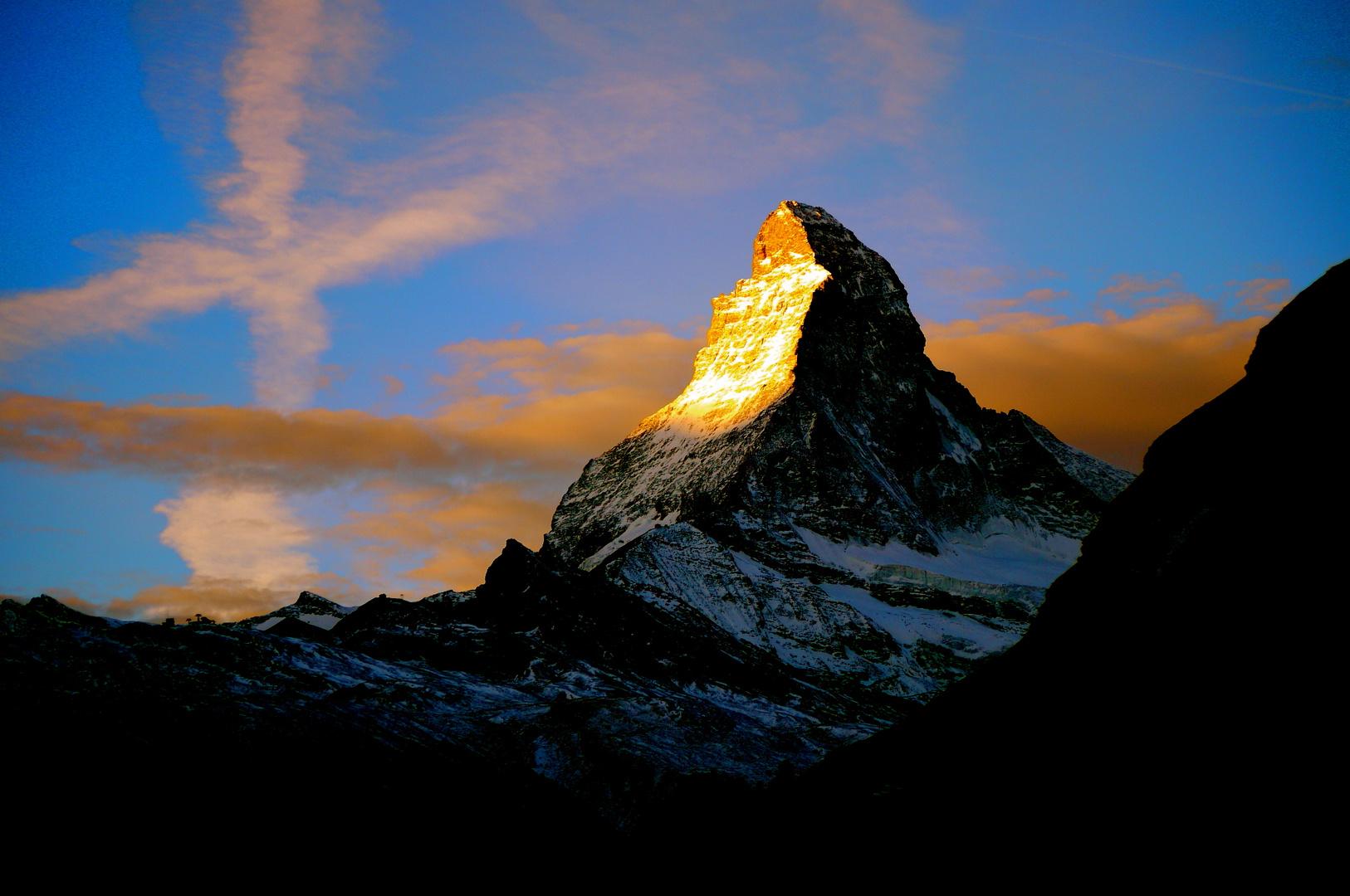 Himmelszeichen am Matterhorn