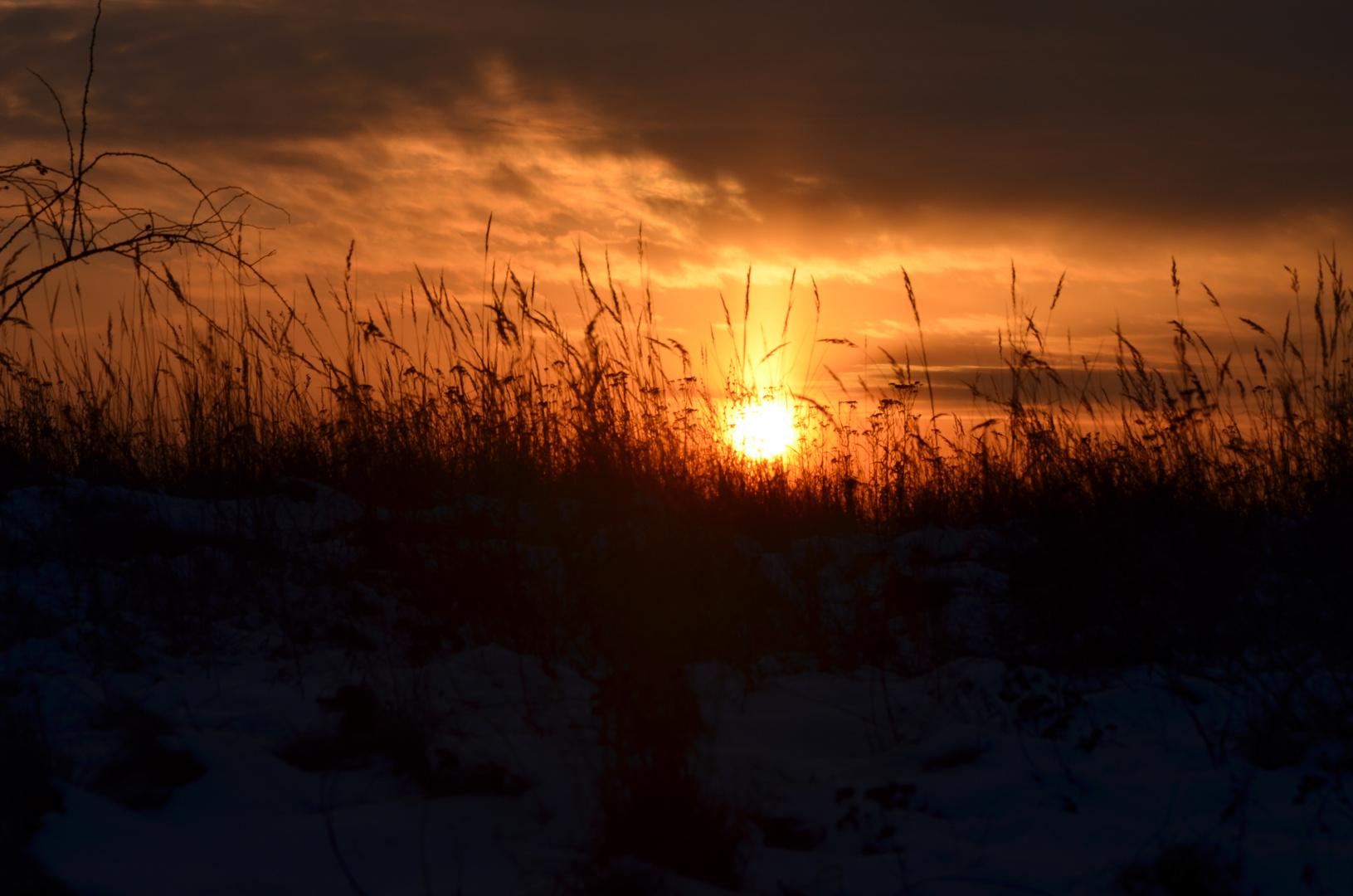 himmlischer Sonnenuntergang