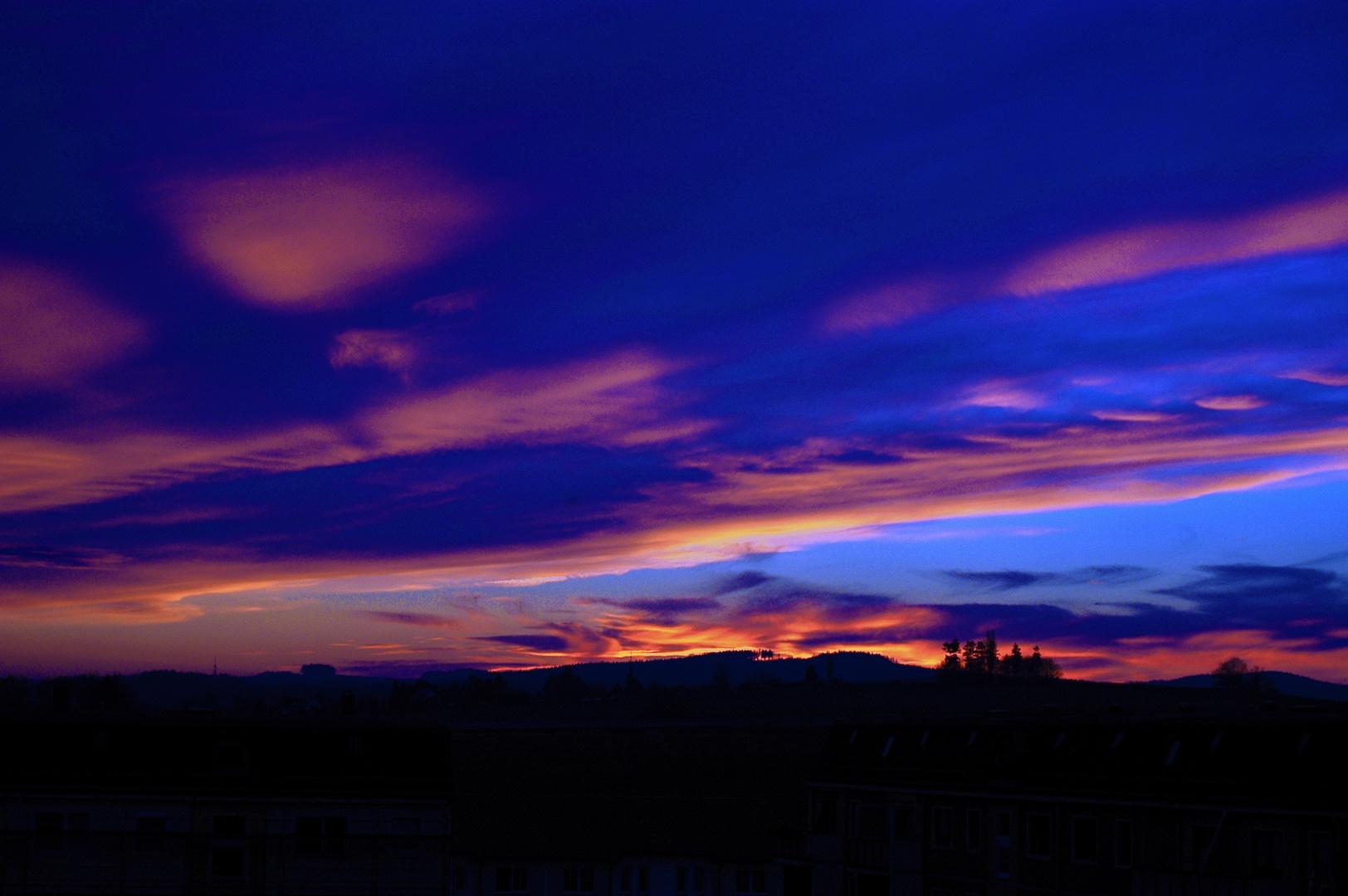 Himmlisches farbenspiel in der Oberlausitz