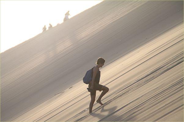 HINAUF auf die Sanduene ... in Peru