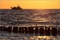 Hinaus in die Ostsee...