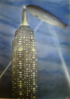 Hindenburg -LZ 129- over Empire State Building