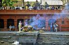 Hindu cremation at the Bagmati river in Pashupatinath