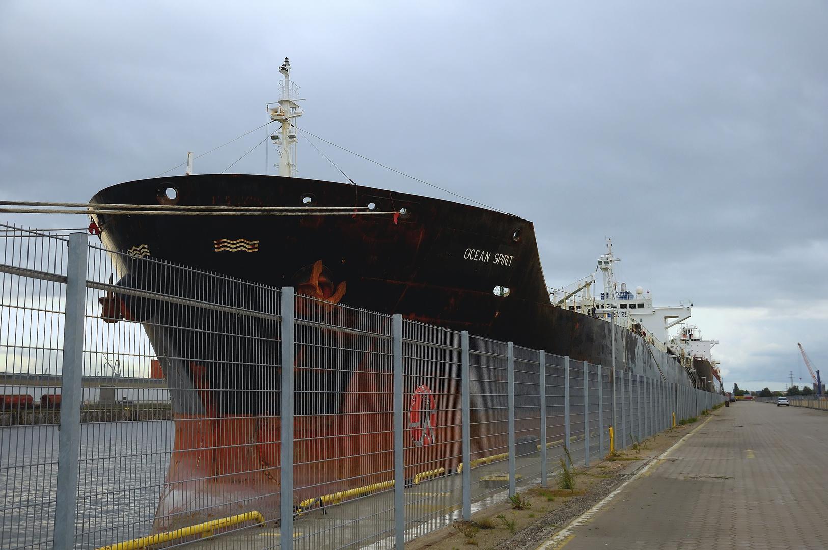 Hinter dem Zaun begann der Freihafen