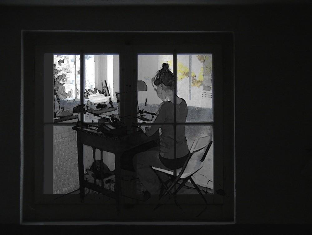 hinter diesem Fenster...