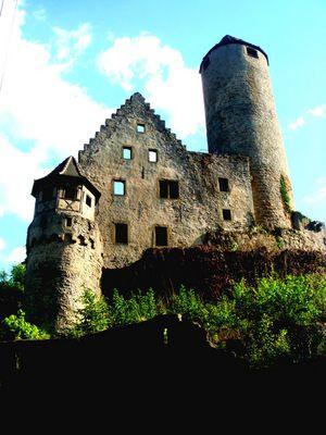 hintere Blick auf die Burg
