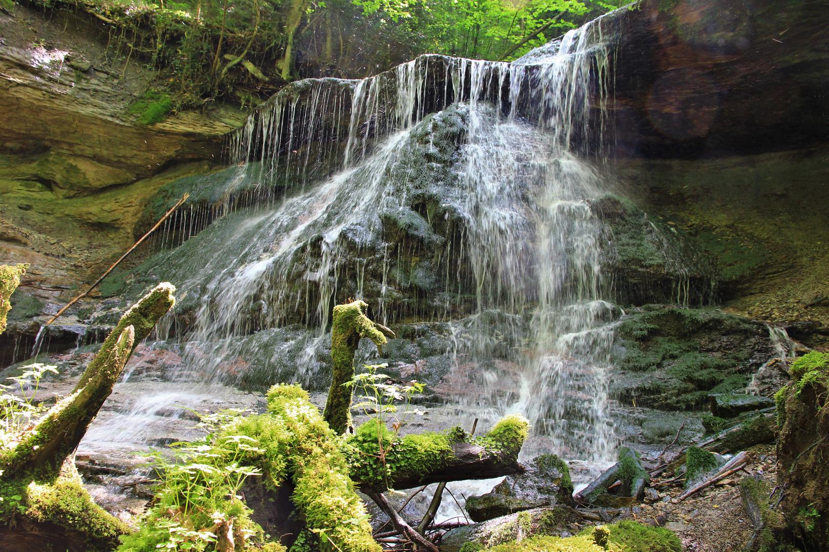 Hinterer Wasserfall bei Murrhardt