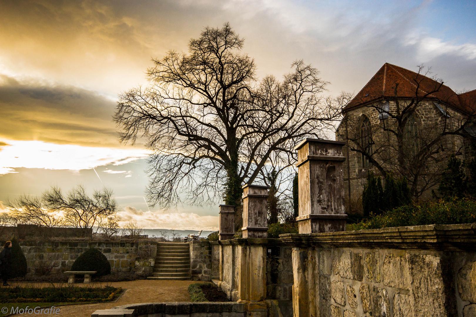 Hintergarten der Stiftskirche St. Servatius