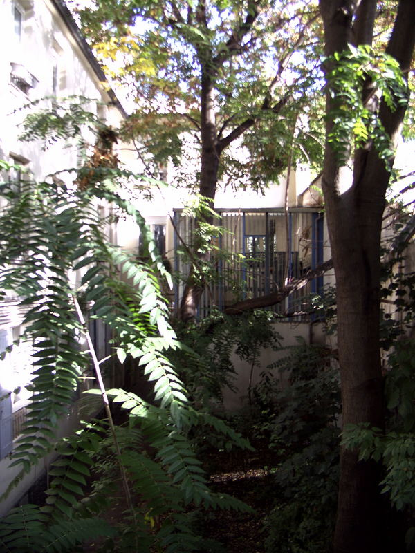 Hinterhof des Hauses 142 rue du faubourg Saint Martin