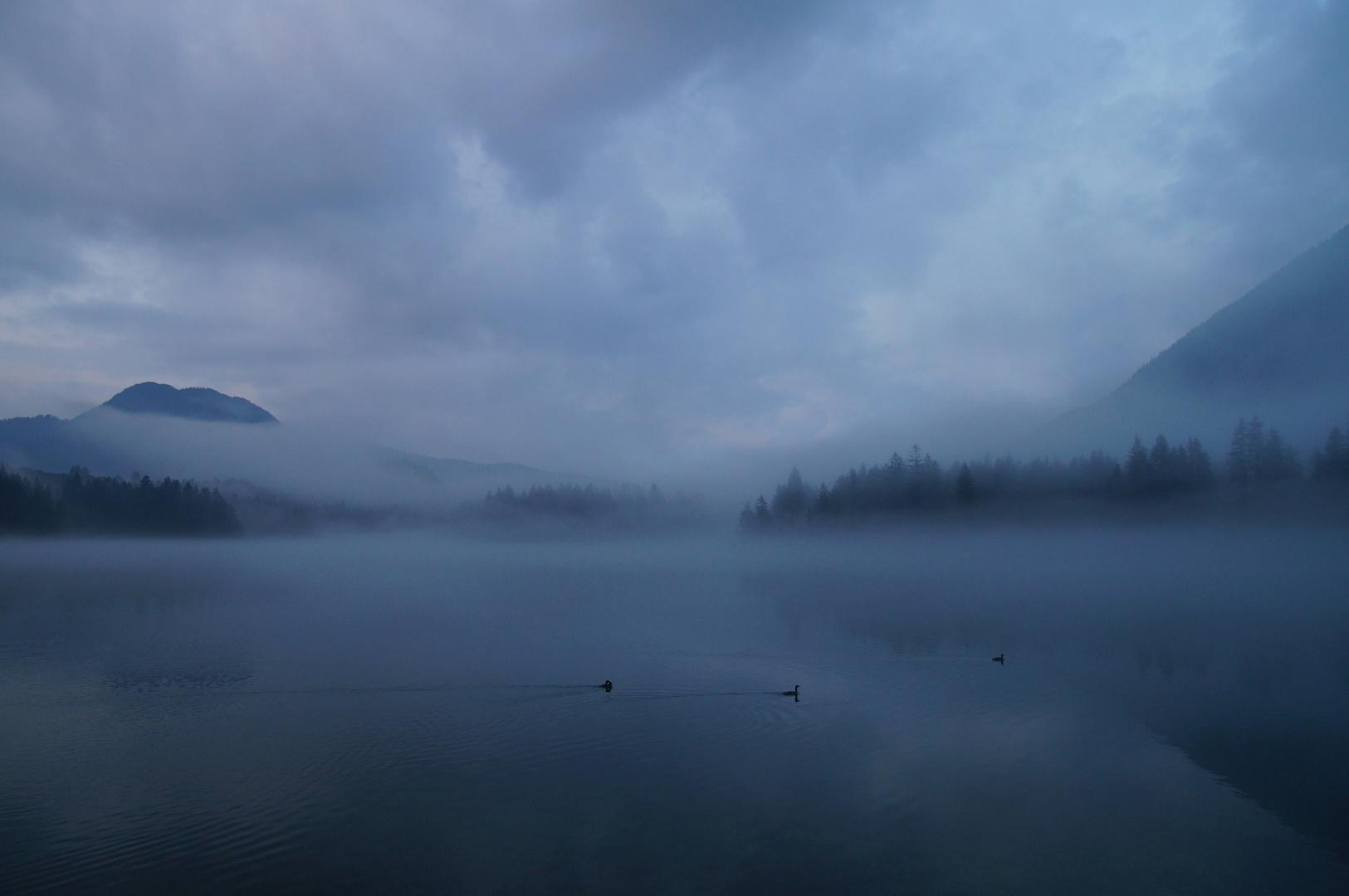 Hintersee im Nebel