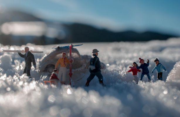 Hinterzarten VW im Schnee