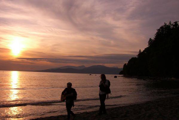 """Hippie-Strand"" Wrek beach, Vancouver, BC, Canada (Pacific)"