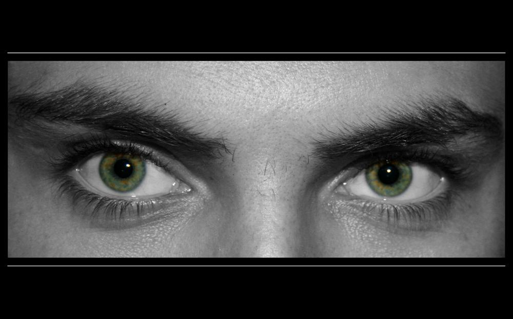 ...his eyes on me...